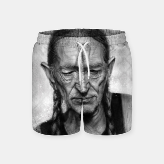 Thumbnail image of Willie Nelson Swim Shorts, Live Heroes