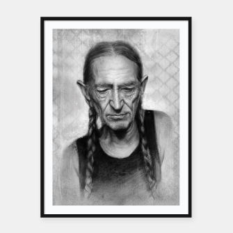 Thumbnail image of Willie Nelson Framed poster, Live Heroes