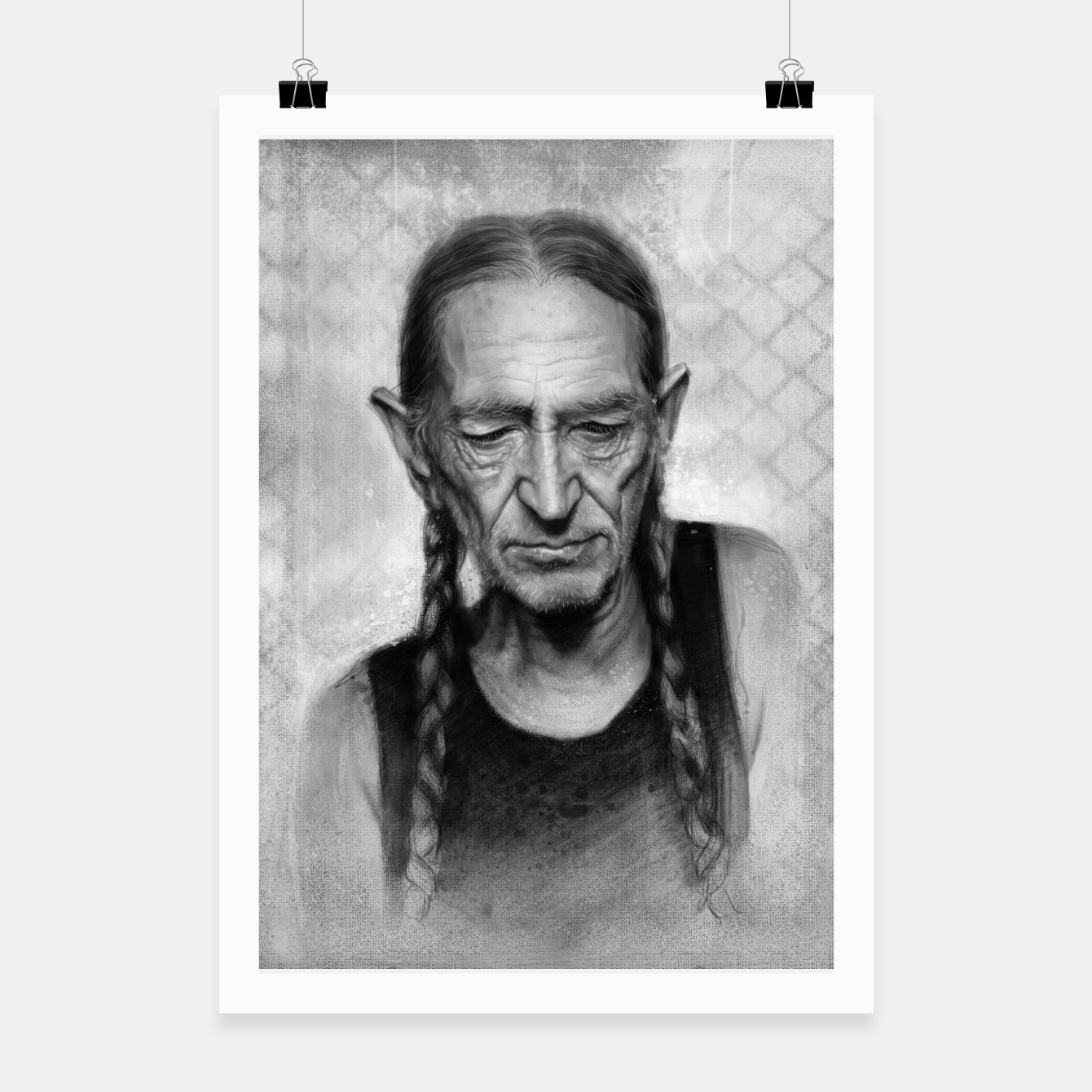 Image of Willie Nelson Poster - Live Heroes