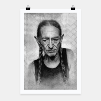 Thumbnail image of Willie Nelson Poster, Live Heroes