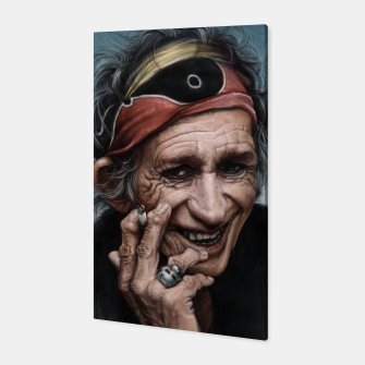 Thumbnail image of Keith Richards Canvas, Live Heroes