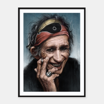 Thumbnail image of Keith Richards Framed poster, Live Heroes