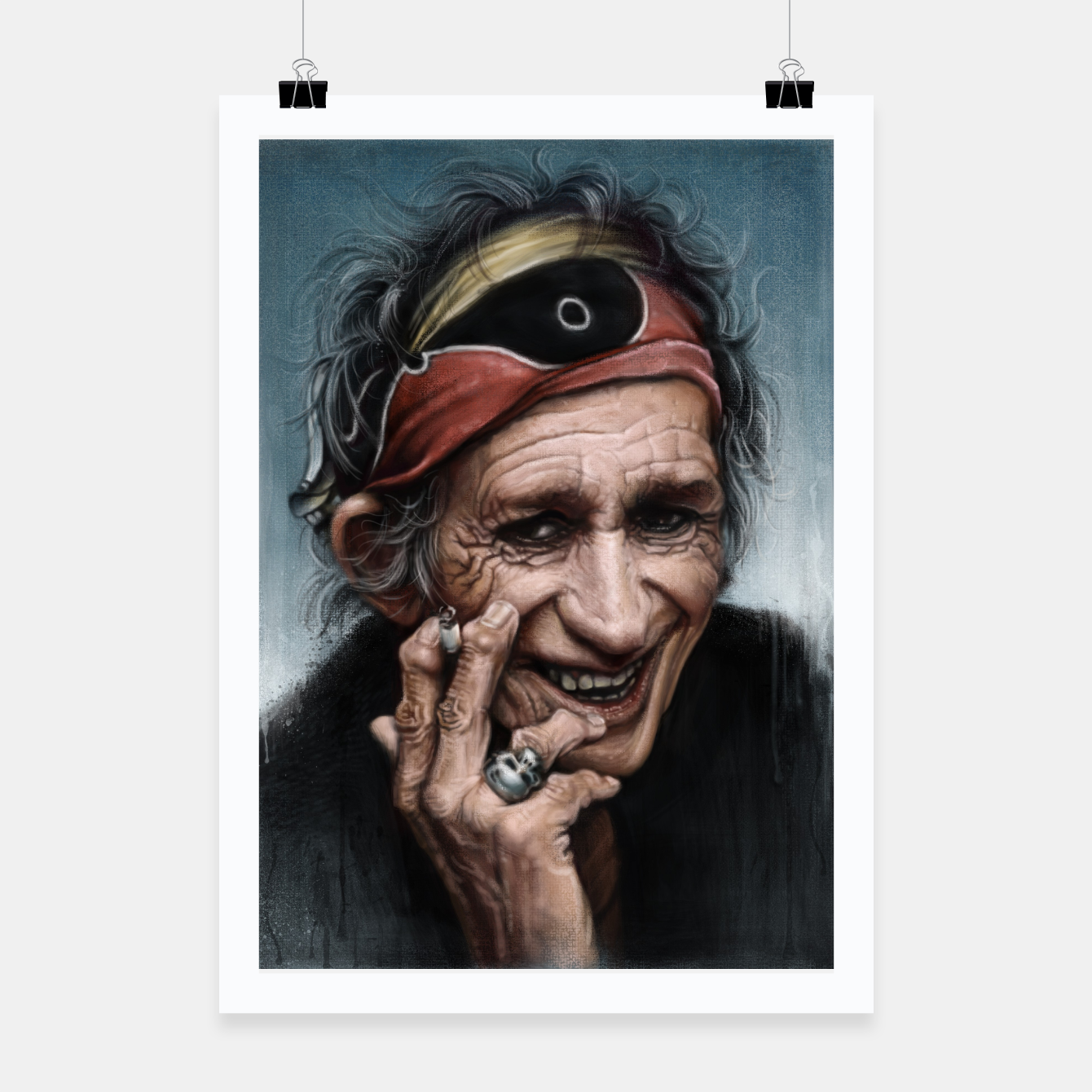 Image of Keith Richards Poster - Live Heroes