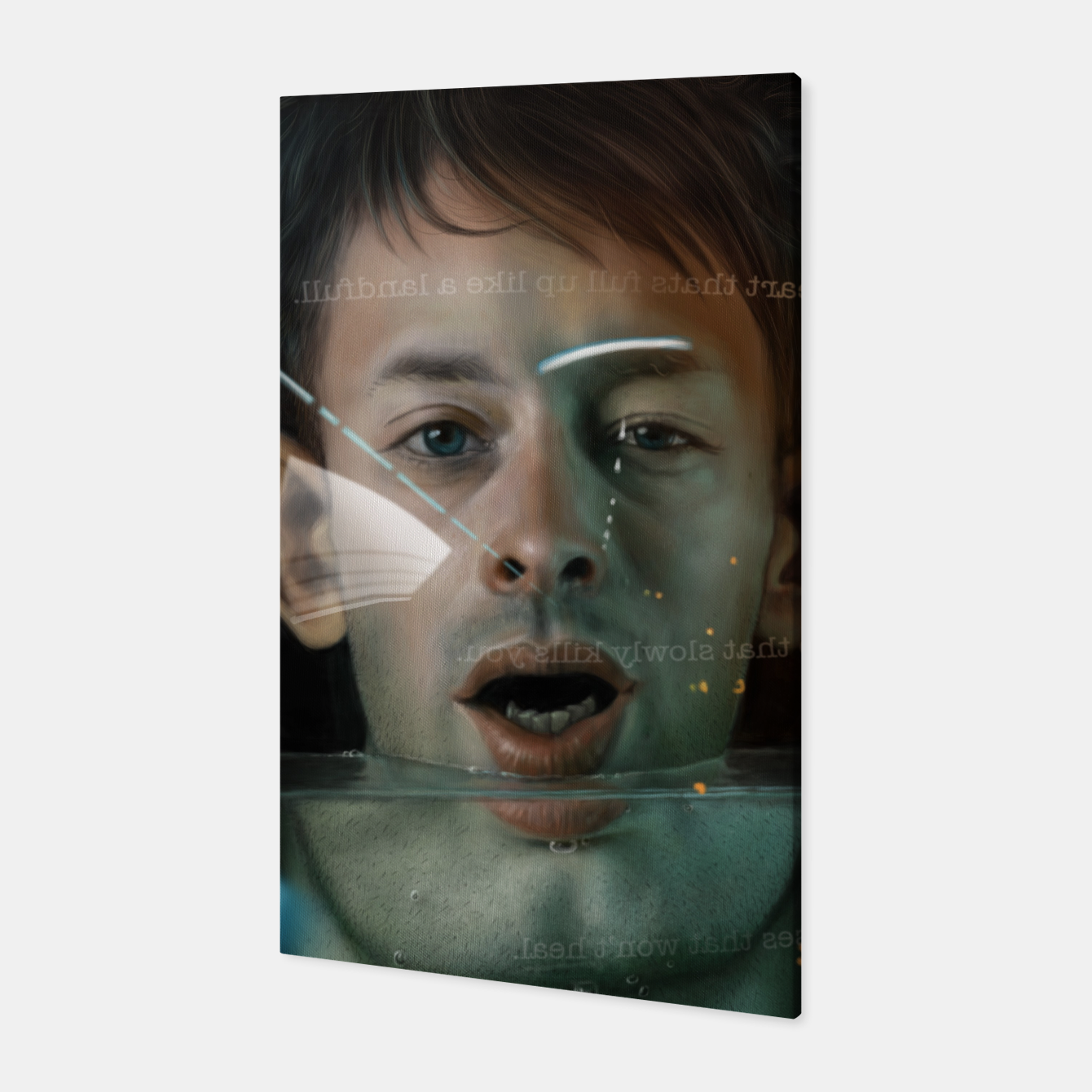 Image of Thom Yorke Canvas - Live Heroes