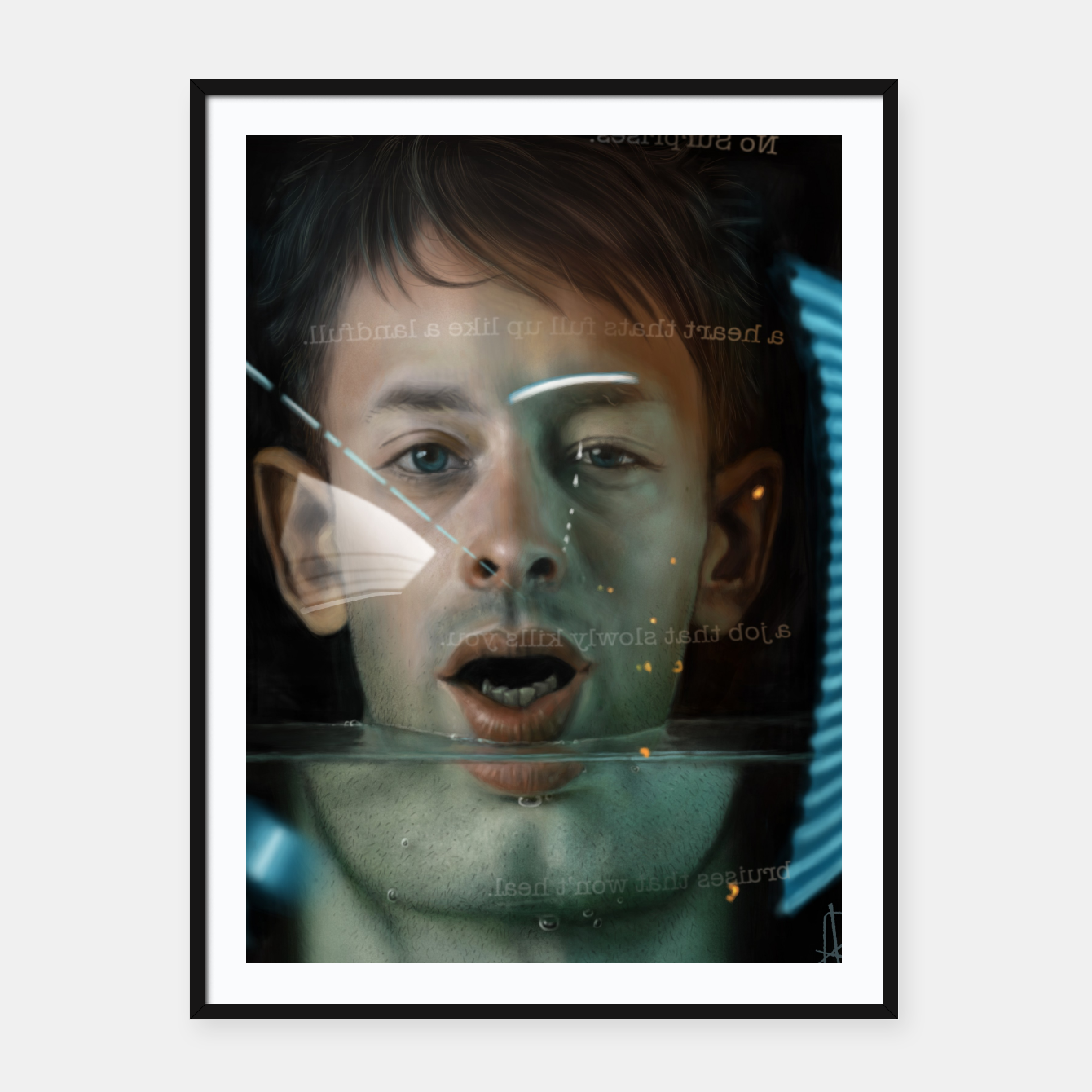 Image of Thom Yorke Framed poster - Live Heroes