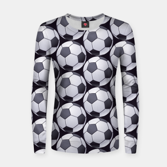Thumbnail image of Soccer Ball Pattern Women sweater, Live Heroes