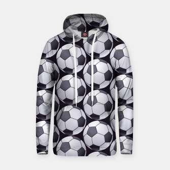 Thumbnail image of Soccer Ball Pattern Hoodie, Live Heroes