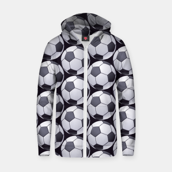 Thumbnail image of Soccer Ball Pattern Zip up hoodie, Live Heroes