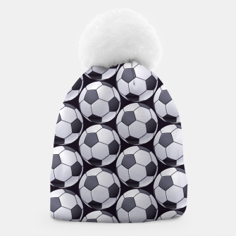 Thumbnail image of Soccer Ball Pattern Beanie, Live Heroes