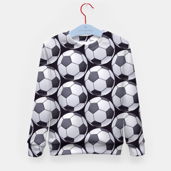 Thumbnail image of Soccer Ball Pattern Kid's sweater, Live Heroes