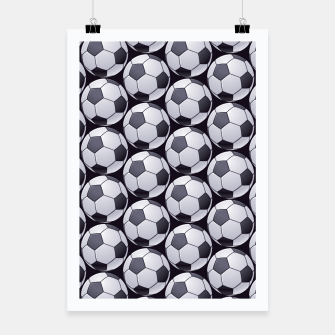 Thumbnail image of Soccer Ball Pattern Poster, Live Heroes
