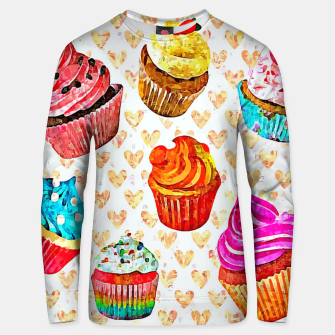 Thumbnail image of Cupcakes Sudadera unisex, Live Heroes