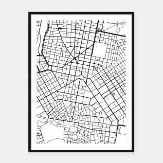 Thumbnail image of Athens, Greece map Framed poster, Live Heroes