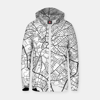 Thumbnail image of Paphos Cyprus map Zip up hoodie, Live Heroes