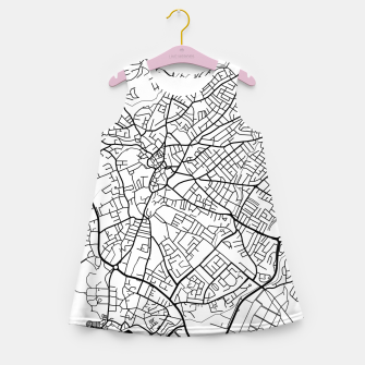 Thumbnail image of Paphos Cyprus map Girl's summer dress, Live Heroes