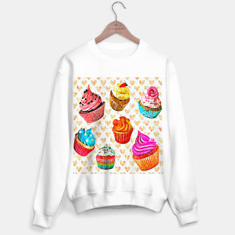 Cupcakes Sudadera regular miniature