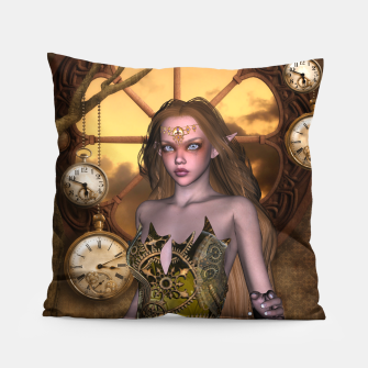Miniature de image de Wonderful steampunk girl Pillow, Live Heroes