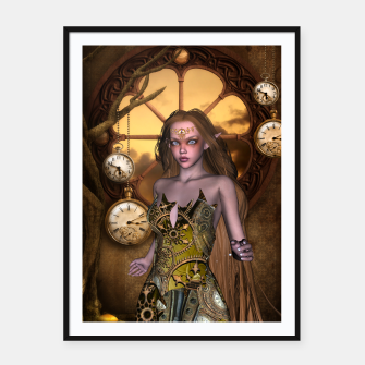 Miniature de image de Wonderful steampunk girl Framed poster, Live Heroes