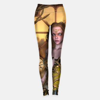 Miniature de image de Wonderful steampunk girl Leggings, Live Heroes