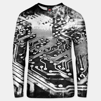 Thumbnail image of gxp platine board conductor tracks splatter watercolor black white Unisex sweater, Live Heroes