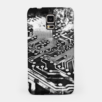 Thumbnail image of gxp platine board conductor tracks splatter watercolor black white Samsung Case, Live Heroes