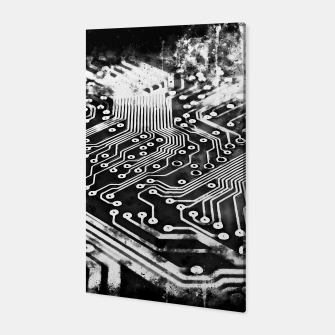 Thumbnail image of gxp platine board conductor tracks splatter watercolor black white Canvas, Live Heroes