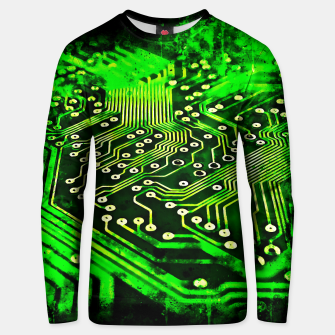Thumbnail image of gxp platine board conductor tracks splatter watercolor Unisex sweater, Live Heroes