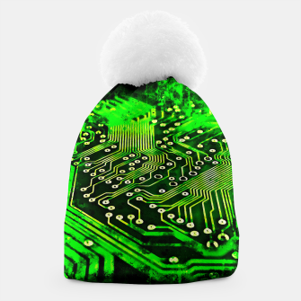 Thumbnail image of gxp platine board conductor tracks splatter watercolor Beanie, Live Heroes