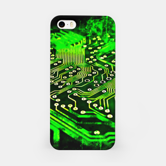 Thumbnail image of gxp platine board conductor tracks splatter watercolor iPhone Case, Live Heroes