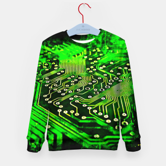 Thumbnail image of gxp platine board conductor tracks splatter watercolor Kid's sweater, Live Heroes