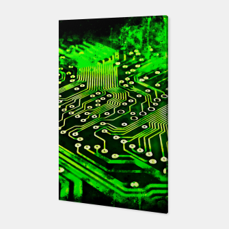 Thumbnail image of gxp platine board conductor tracks splatter watercolor Canvas, Live Heroes