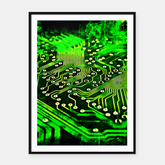 Thumbnail image of gxp platine board conductor tracks splatter watercolor Framed poster, Live Heroes