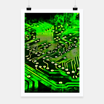 Thumbnail image of gxp platine board conductor tracks splatter watercolor Poster, Live Heroes