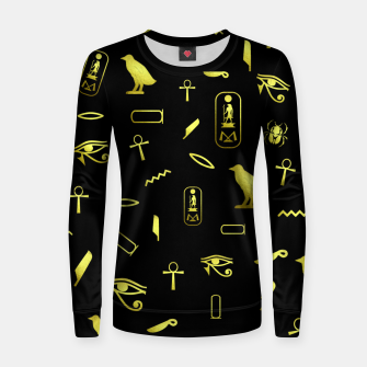 Thumbnail image of Hieroglyphs Women sweater, Live Heroes