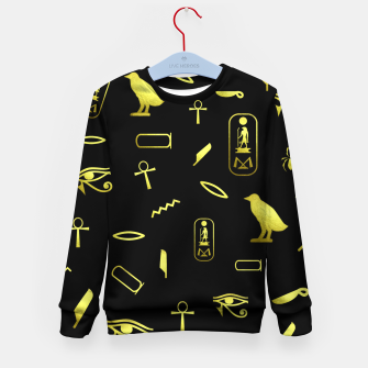 Thumbnail image of Hieroglyphs Kid's sweater, Live Heroes