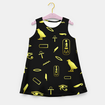 Thumbnail image of Hieroglyphs Girl's summer dress, Live Heroes