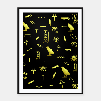 Thumbnail image of Hieroglyphs Framed poster, Live Heroes