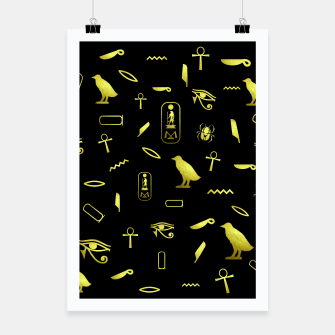 Thumbnail image of Hieroglyphs Poster, Live Heroes