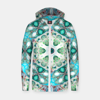 Thumbnail image of Coral Mandala Zip up hoodie, Live Heroes