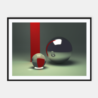 Imagen en miniatura de Ray traced abstract composition Framed poster, Live Heroes