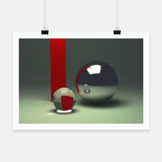Imagen en miniatura de Ray traced abstract composition Poster, Live Heroes