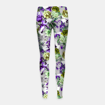 Thumbnail image of Abstract asian fantasy Leggings para niña, Live Heroes