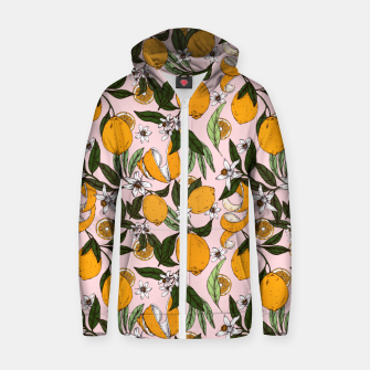 Thumbnail image of Succulent sweets oranges Sudadera con capucha y cremallera , Live Heroes