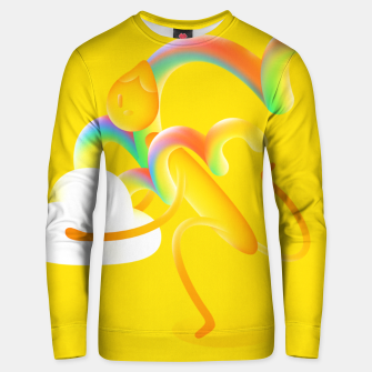 Thumbnail image of It's a double rainbow! Unisex sweater, Live Heroes