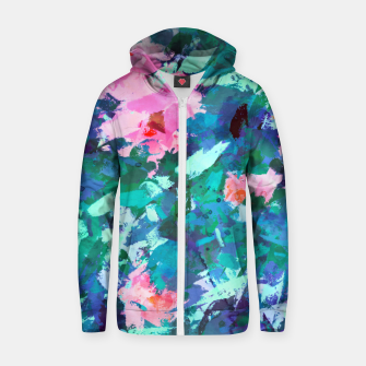 Thumbnail image of Blossomed Garden Zip up hoodie, Live Heroes