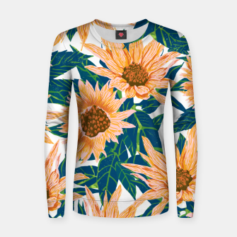 Thumbnail image of Blush Sunflowers Women sweater, Live Heroes