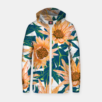 Thumbnail image of Blush Sunflowers Zip up hoodie, Live Heroes