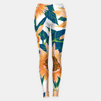 Thumbnail image of Blush Sunflowers Leggings, Live Heroes