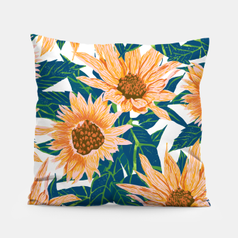 Thumbnail image of Blush Sunflowers Pillow, Live Heroes