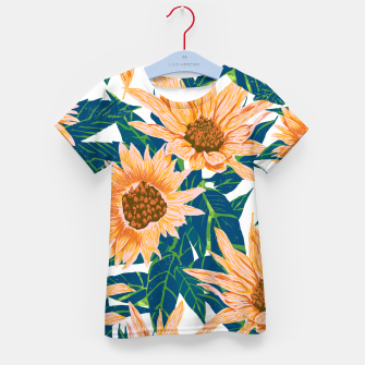 Thumbnail image of Blush Sunflowers Kid's t-shirt, Live Heroes